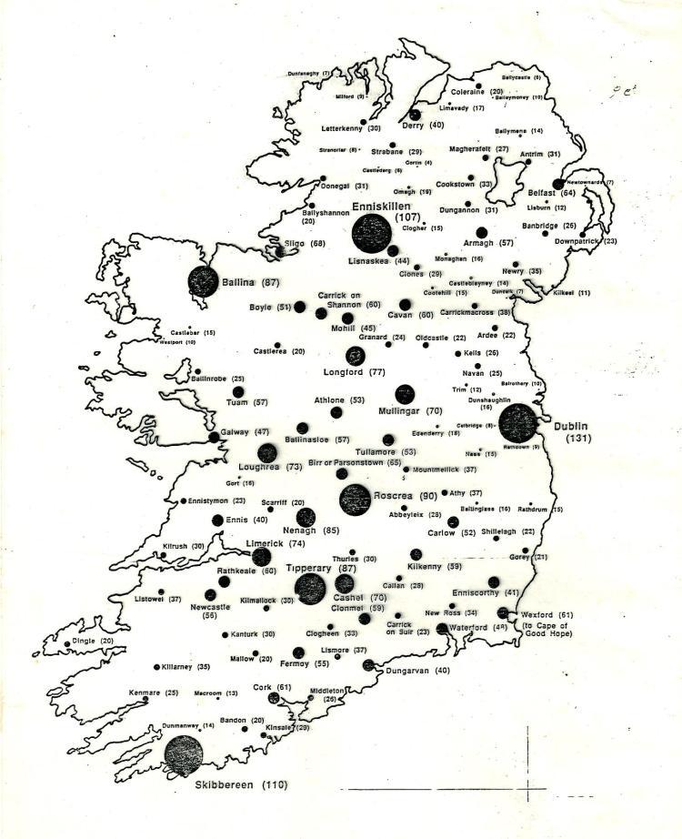 FOsirelandmap